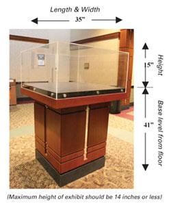 McKimmon Center Display Case Dimensions
