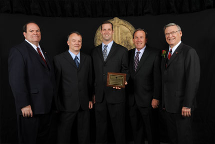 Pictured left to right: Andrew Billingsley, Keith Linthicum, James Moore, Don Carfagna, Dr. James Zuiches