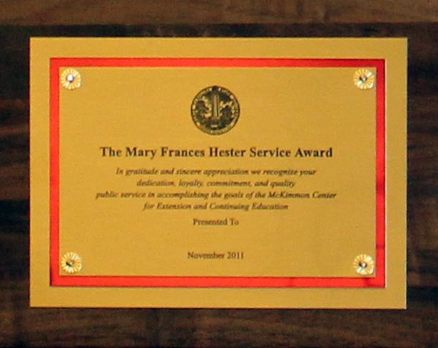 Mary Frances Hester Award