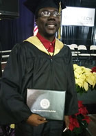 Sevante Bishop earns Degree