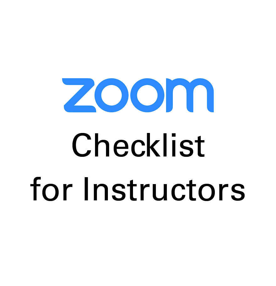 Zoom Checklist for Instructors